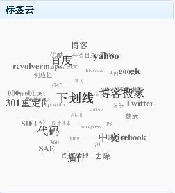 3D 标签云中文支持