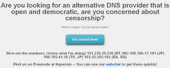 OpenNIC-DNS