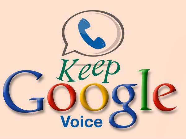 保留申请的 Google Voice 号码