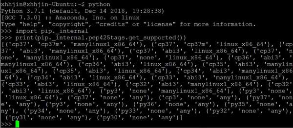 记 Python whl is not a supported wheel on this platform 的解决方案